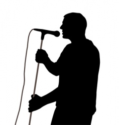 Male singer vector