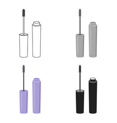 Mascara icon in cartoon style isolated on white vector