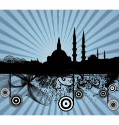 middle Eastern city vector image vector image