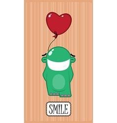 Monster smiling vector image