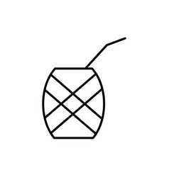 Pineapple cocktail icon vector