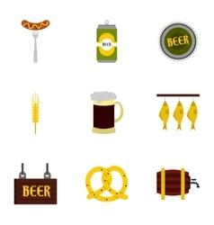 Pub icons set flat style vector