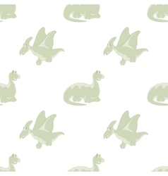 Seamless white background Dinosaurs vector image vector image