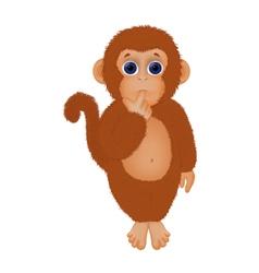 Shaggy little monkey vector