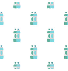 Water bottle pattern flat vector