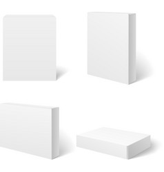 White blank cardboard package box in different vector image
