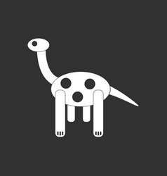 White icon on black background giraffe toy vector