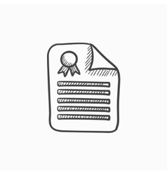 Real estate contract sketch icon vector