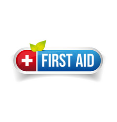 First aid icon button vector