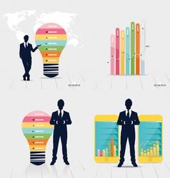 Businessman showing graph vector image