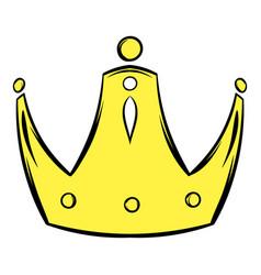 gold crown icon cartoon vector image