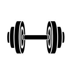 Monochrome silhouette with dumbbell for training vector