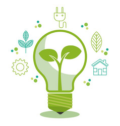 eco friendly light bulbs design vector image