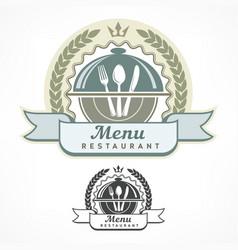 design menu labels vector image