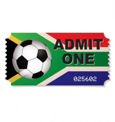 South africa football ticket vector