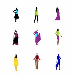 Fashion girls icon symbol art vector