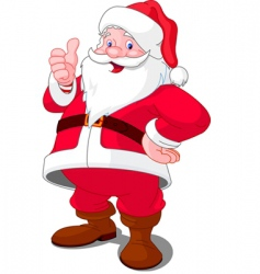 Cartoon santa vector