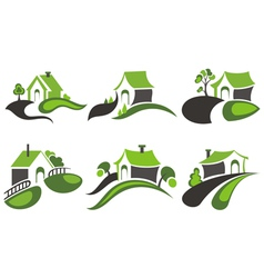 House symbols vector