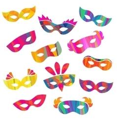 Set of carnival masks different forms vector image