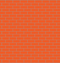Seamless brick wall orange vector image