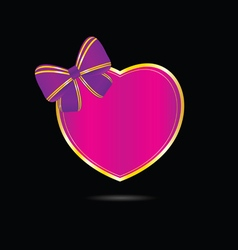 Heart love in pink vector