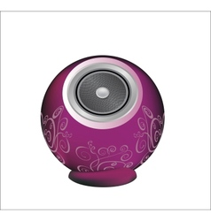 Dark pink audio speaker vector