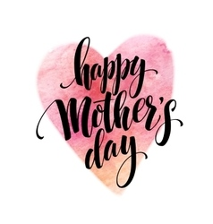 Hand drawn decorative lettering happy mothers vector