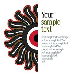 sunflower pattern vector image