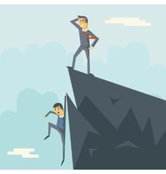 Achievement top point goal businessman characters vector