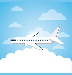 Airplane vehicle icon vector