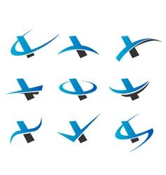 Alphabet I Logo Icons vector image vector image