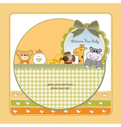 baby shower announcement vector image vector image