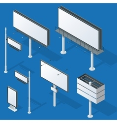 Billboards advertise billboards city light vector image vector image