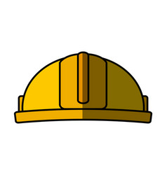 Construction helmet isolated icon vector