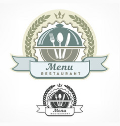 design menu labels vector image vector image