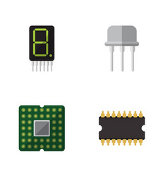 Flat icon technology set of display resist vector