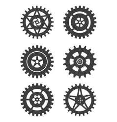 Gears icon set vector