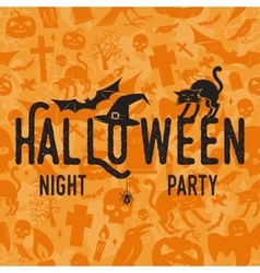 Halloween night party concept vector