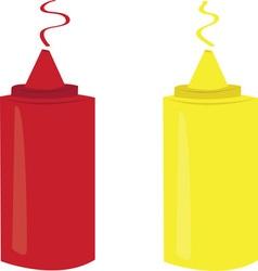 Ketchup mustard vector
