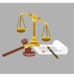 Law horizontal banner set with judical system vector image vector image