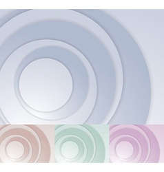 Layered circle background template vector image vector image