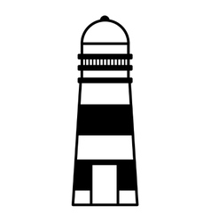 Lighthouse maritime isolated icon vector