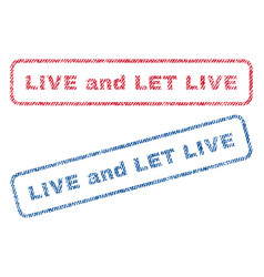 Live and let live textile stamps vector
