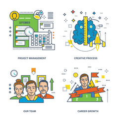 management creative process career growth vector image