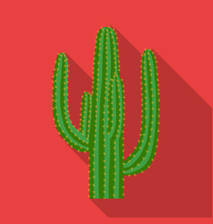 mexican cactus icon in flat style isolated on vector image