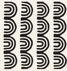 Monochrome minimalistic tribal seamless pattern vector