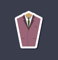 Paper sticker on stylish background mans jacket vector