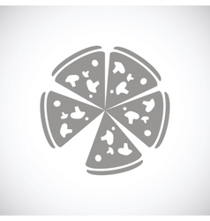 Pizza black icon vector