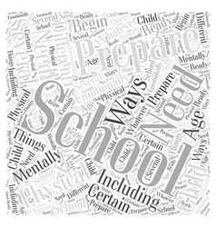 Preparing for school word cloud concept vector