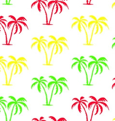seamless palm tree pattern vector image vector image